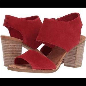 Toms   Majorca   Red Sandals
